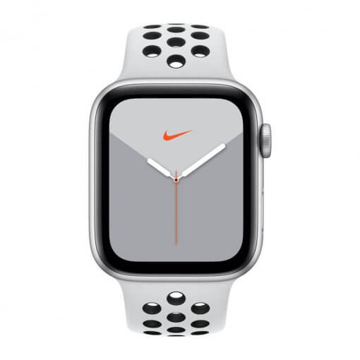 Watch Series 5 Nike 44mm zilver - front