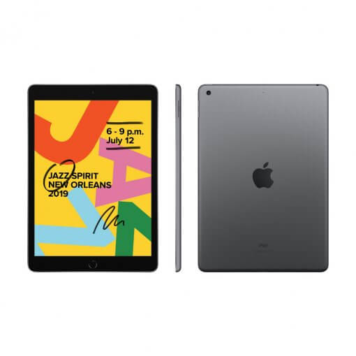 iPad 2019 - spacegray - front & back