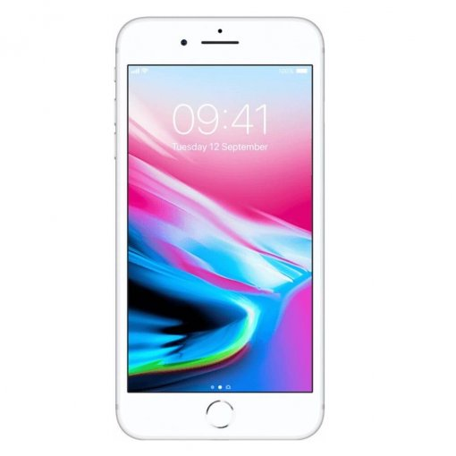iPhone8 Plus zilver voorkant