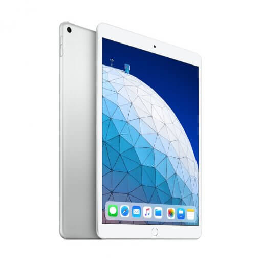 Apple iPad Air 2019 zilver front back
