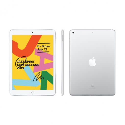 iPad 2019 - zilver - front & back