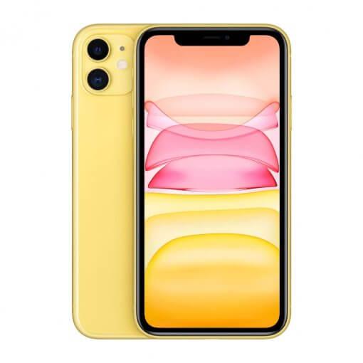 iPhone 11 - geel - voorkant en achterkant
