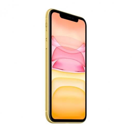 iPhone 11 - geel - zijkant