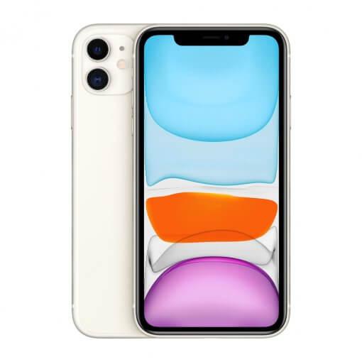 iPhone 11 - wit - voorkant en achterkant